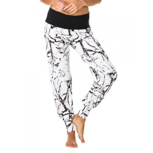 Pink Sun White Marble Womens Jogger Pants
