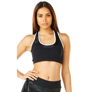 Pink Sun Deluxe Mono Support Padded Womens Crop Top