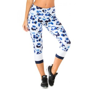 Pink Sun Indigo Spots Womens Leggings