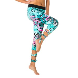 Pink Sun Wrap Tie Tropicala Womens Leggings