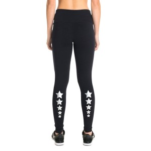 Pink Sun Stars Supplex Compress Womens Full Length Tights