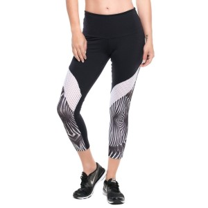 Pink Sun Zebra Mesh Supplex Compress Womens Leggings